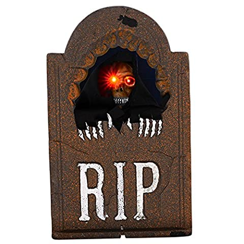 Halloween Horror Decoration Props Voice Control Induction Lifting Tombstone Halloween Bar Ghost Room Chamber of Secrets Escape