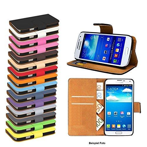 Preisvergleich Produktbild W GiXa Elegante Premium Samsung Galaxy Schutztasche mit Kartenfächern und Standfunktion Flip Case für viele Samsung Galaxy Handy Typen Schutz Hülle Schutz Tasche (für galaxy S5 / S5 neo, Schwarz)