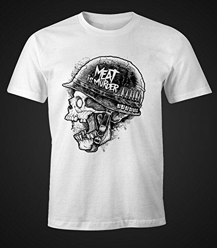Herren T-Shirt - Meat ist Murder - Moonworks Weiß