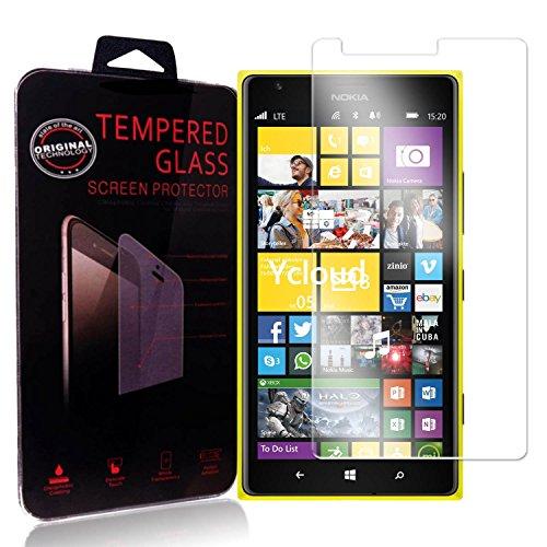 Ycloud Panzerglas Folie Schutzfolie Bildschirmschutzfolie für Nokia Lumia 1520 screen protector mit Härtegrad 9H, 0,26mm Ultra-Dünn, Abger&ete Kanten