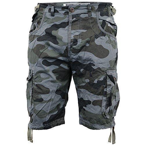 Mens Smith & Jones Camouflage Shorts Cargo Combat Knee Length Jeans Military New