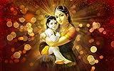 #6: KumkumArts Yashoda Maa And Krishna Wall Sticker Poster 12 x 18 Inch HD Quality Material Gloss Paper.
