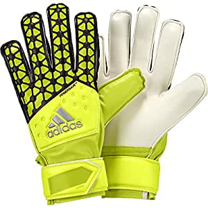 Adidas fingersave gants de gardien pour enfant junior 4 Jaune/noir - Solar Yellow/Semi Solar Yellow/Black