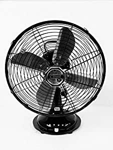 Cinni 300 mm Table Fan Oscillating High Speed,Black
