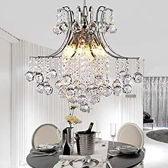vivreal kristall deckenleuchte kronleuchter e14 fassung l ster h ngeleuchte deckenlampe. Black Bedroom Furniture Sets. Home Design Ideas