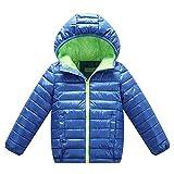 Winterjacke Für Jungen Mädchen Mantel Kinder Steppjacke Daunenjacke Blau 150