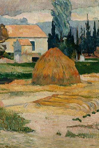 Art Journal: Paul Gauguin - Landscape near Arles - Art Cover College Ruled Notebook | 110 Pages -