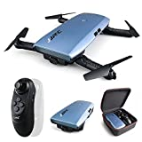 REDPAWZ H47 Elfie Plus Drohne mit 720P HD Kamera Wifi FPV Faltbare Selfie Drohne mit Gravity Sensor Mini Drone mit Kopfloser Modus Höhenhaltemodus RTF Quadcopter mit Blaues sauberes Tuch- Blau