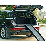 Barkshire Folding Dog Travel Ramp - 152cm Length - Helps Old, Small And Large Dogs Getting In And Out Of Cars - Folds Into Suitcase Sized Box For Easy Storage