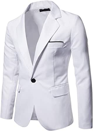 JPDD Mens Casual Blazer Formal Suit Jackets Classic Chic Blazers Coat Casual Suit Jackets Slim Fit One Button Suits Coat Solid Casual T Shirt Wedding Party Coat Business Jacket Stylish Jacket Tops