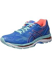 Asics Gel-Nimbus 19, Chaussures de Course pour Entraînement sur Route Femme, Divablue/Flashcoral/Aquasplash