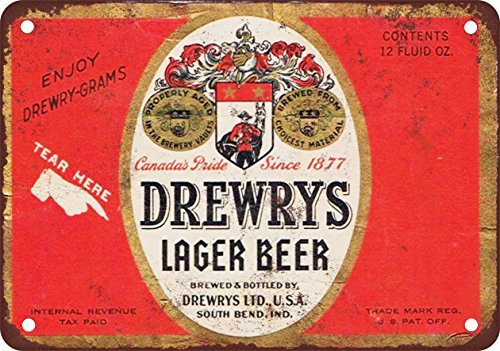 drewrys-lager-beer-vintage-look-reproduction-metal-tin-sign-8x12-inches