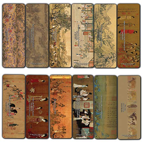 Segnalibri antichi cinesi, giapponesi e ukiyo-e (confezione da 60) (60-Pack) Chinese Paintings Bookmarks (60-pack)
