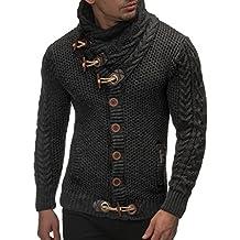 Leif Nelson Maglione lavorato a maglia da uomo LN4195