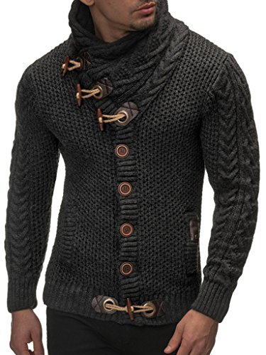 Leif nelson sweater-anthrazit medium
