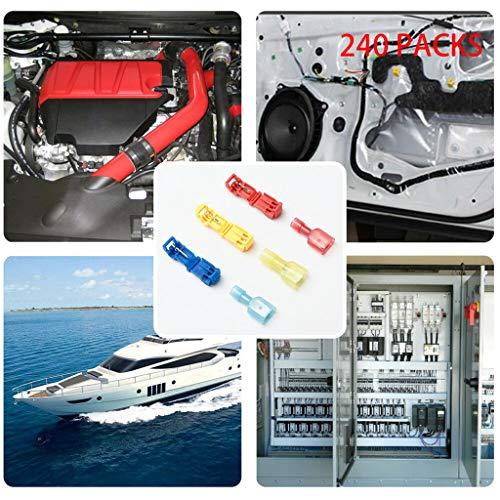 ToolHome-Verbesserung,TwoCC Anschlüsse und Spleiß Lötfrei T-Tap Elektrisch Steckverbinder Kit 240St