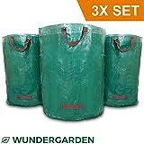 WUNDERGARDEN 3x 272L Gartenabfälle, Laub, Grünschnitt, Pflanzenabfälle, Kompost - Rundes Format,...