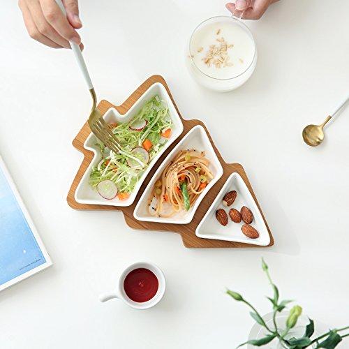 ren Schalen Bodenplatte Wasser Bambus Keramik Obstschale Salatschüssel (Essen Für Ein Luau)