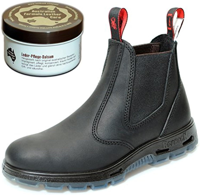 Redback UBBK Work Boots aus Australien   Unisex + 250 ml Lederpflege | BlackRedback UBBK Work Boots Australien