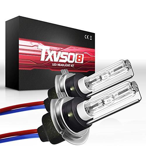 Sipobuy H7 55W HID Bombillas de xenón Lámpara de reemplazo de la linterna, Base de metal, 10000k de color azul oscuro, 2 piezas/juego