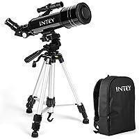 INTEY Télescope Astronomique Portable Télescope Réfracteur HD Ultra Clair Astronomie Observer des Etoiles Lune Ciel pour Débutants Enfants Adolescents