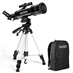 Idea Regalo - INTEY Telescopio Astronomico, Telescopio Riflettore, Lente Alta Definizione, Portatile(con zaino), Telescopio con Treppiede, perfetto per Bambini e Principianti
