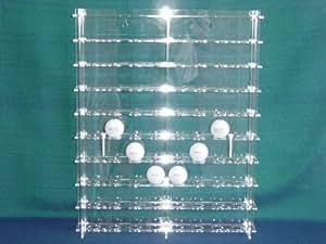 Golf-Ball Vitrine aus Acrylglas für 72 Golfbälle SL006 Rückwand Spiegel