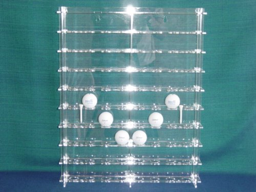Unbekannt Golf-Ball Vitrine aus Acrylglas für 72 Golfbälle SL006 Rückwand Transparent - Golf-ball Vitrine
