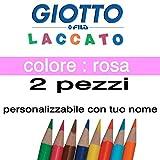 2crayons de couleur Giotto laqué mine 3,3mm vrac rose Giotto laqué