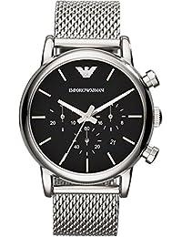 Emporio Armani Herren-Armbanduhr XL Chronograph Quarz Edelstahl AR1811