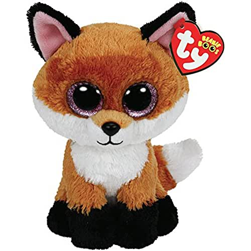 peluches TY - Slick, peluche zorro, 15 cm, color naranja (36159TY)
