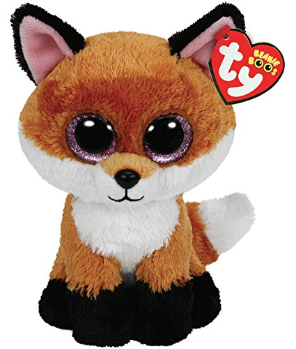 Beanie Boo Fox - Slick - Brown - 15cm 6""