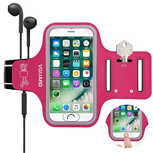 543d9cb6a VGUARD Brazalete Deportivo para 5.1 Pulgados Moviles iPhone 8 7 6s 6 Caja  del Brazalete Antideslizante para Deportes con Soporte para Llaves, Cables,  ...