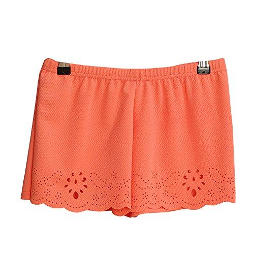 Molly Femmes Élastique Faible Hausse Shorts Skinny Sécurité Dentelle Orange
