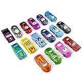 Mini Metallo Auto Giocattolo per Bambini 16 Pezzi Modello da Corsa Scala 1 64 Set Regalo per 3 Anni+, Stile Casuale