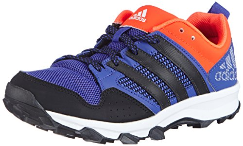 adidas Kanadia 7 Trail, Chaussures de Trail Mixte Enfant - Multicolore - Mehrfarbig (Night Flash S15/Core Black/Solar Red), 30