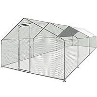 IDMarket - Enclos poulailler 18 m² parc grillagé en acier galvanisé