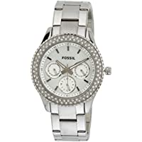 Fossil End-of-Season Stella Analog Silver Dial Women's Watch - ES2860