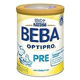 Nestlé BEBA Optipro Pre, Säugling Milch, Babynahrung, Anfangsmilch von Geburt an, Glutenfrei, Dose, 800 g, 12307807