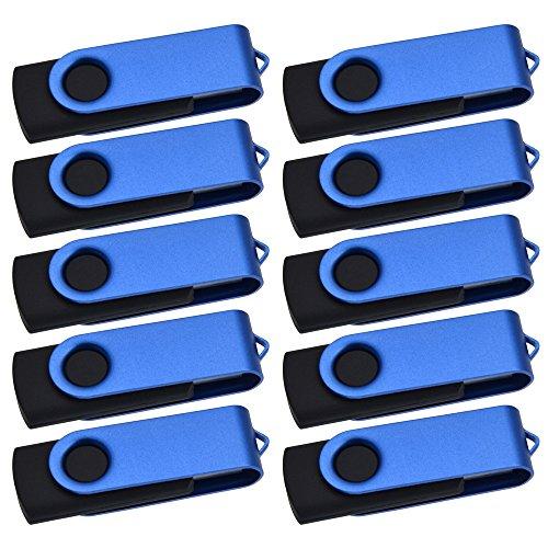 Preisvergleich Produktbild Kepmem 20 Stück 512MB USB-Sticks,  Billig USB 2.0 Speicher Stick Rotate Flash Drive(Blau)