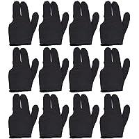Mace Billiard - Guantes, 12 Unidades, Color Negro