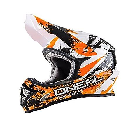 O'Neal 3Series SHOCKER MX Helm Schwarz Orange Motocross Cross Enduro Offroad Motorrad, 0623S-6, Größe X-Large (61 - 62 cm)