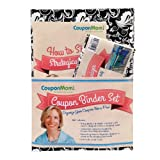 CouponMom.com Organizer Binder, Black and White Pattern Design [With 30 Clear Plastic Pocket Pages, Coupon Organizer and Booklet and Couponing Accesso