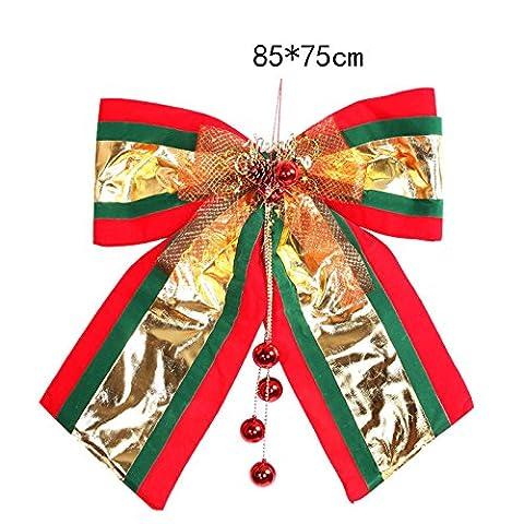 Pull Bögen Weihnachten Fenster Ornament groß golden rot Schmetterling Knoten a