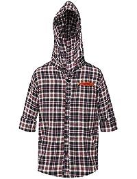 Life Boys Hooded Check Shirt___203246456_9100