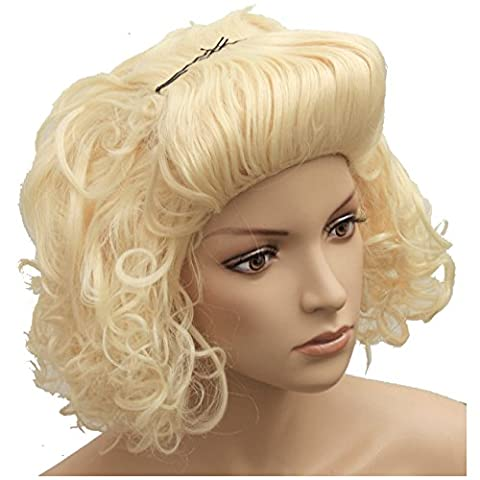 Perücke Marilyn blond Deluxe VIP für Party Monroe Fans Feten Marylin Starperücke