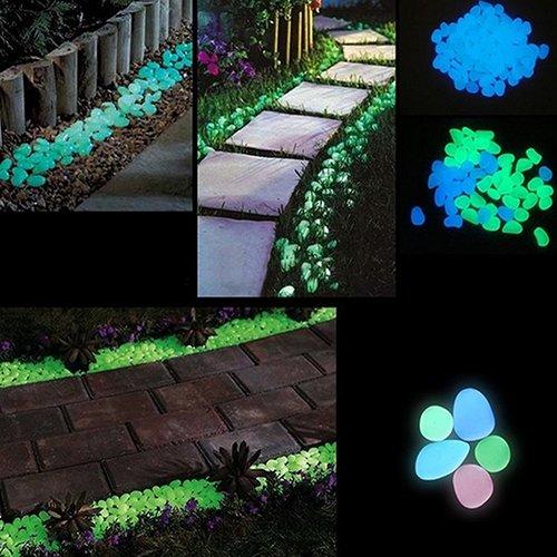 collectsound Leuchtsteine, leuchtet im Dunkeln, fluoreszierend, für Aquarien, Garten, Parterre, Dekoration, zufällige Farbe, 10 Stück (Fake-aquarium)