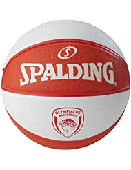 Olympiacos Pirée Spalding-Ballon de Basketball-Rouge