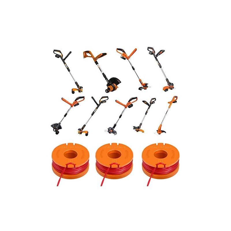 String Trimmer Spools – Trimmer Line Edger Replacement 10ft Grass Trimmer Edger String Spool Line Replacement compatible…