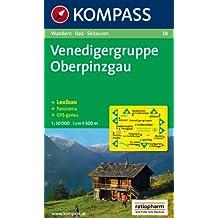 Carte touristique : Venedigergruppe, Oberpinzgau